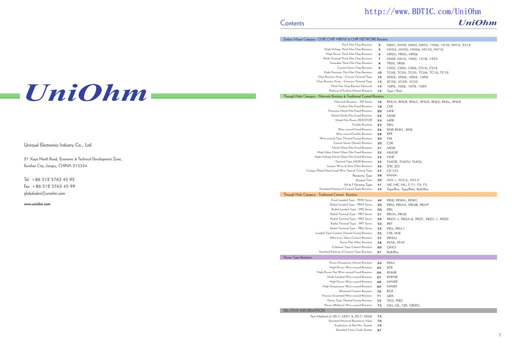 TAI OHM Thick Film Chip Resistor 4.7Ω 5/% 0805 Pkg **NEW** Qty.100