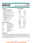 DS1801 Dual Audio Taper Potentiometer FEATURES PIN ASSIGNMENT