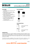 DS1818 3.3V EconoReset with Pushbutton FEATURES PIN ASSIGNMENT