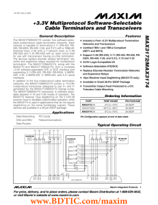 MAX3172/MAX3174 +3.3V Multiprotocol Software-Selectable Cable Terminators and Transceivers General Description