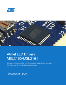 Atmel LED Drivers MSL2160/MSL2161