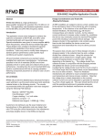 Design Application Note - AN-079 SGA-8543Z  Amplifier Application Circuits