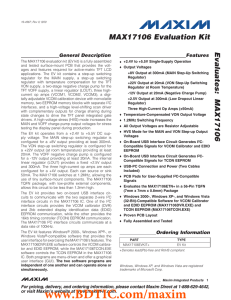 MAX17106 Evaluation Kit Evaluates: General Description Features