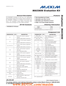 MAX3656 Evaluation Kit Evaluates: General Description Features