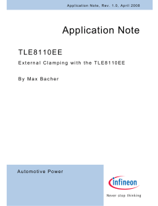 Application Note TLE8110EE