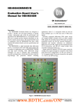 NB4N840MMNEVB Evaluation Board User's Manual for NB4N840M EVAL BOARD USER'S MANUAL