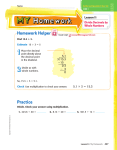Homework Helper Lesson 11 Divide Decimals by Whole Numbers