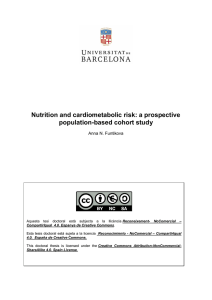 Nutrition and cardiometabolic risk: a prospective population-based cohort study
