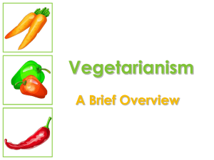 Vegetarianism A Brief Overview