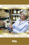 Using the Nutrition Facts Label A How-To Guide Older Adults