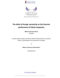 The effect of foreign ownership on the financial