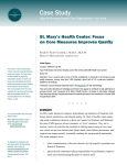 Case Study St. Mary's Health Center: Focus on Core Measures Improves Quality