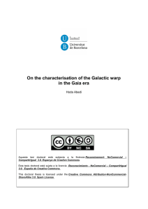 On the characterisation of the Galactic warp in the Gaia era