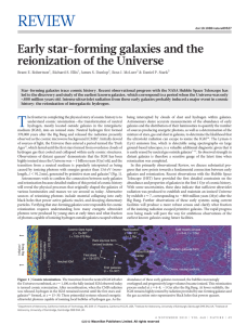 REVIEW Early star-forming galaxies and the reionization of the Universe