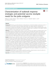Characterization of outbreak response strategies and potential vaccine stockpile