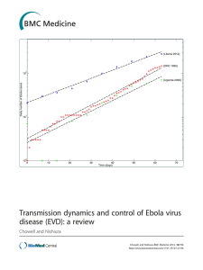 Transmission dynamics and control of Ebola virus disease (EVD): a review