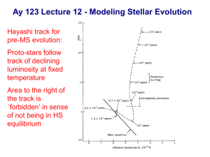 Ay 123 Lecture 12 - Modeling Stellar Evolution