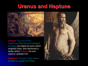 Uranus and Neptune Uranus Saturn Neptune