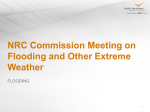 NRC Commission Meeting on Flooding and Other Extreme Weather FLOODING