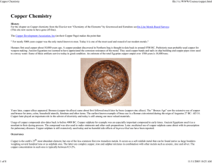 Copper Chemistry