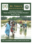 "St. Xavier's IV ""Global Climate Change and Water Disasters"" International Conference on"