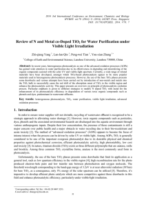 Review of N and Metal co-Doped TiO for Water Purification under