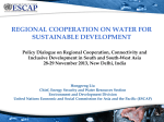 REGIONAL COOPERATION ON WATER FOR SUSTAINABLE DEVELOPMENT