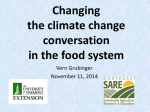 Changing the climate change conversation in the food system