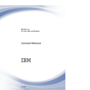 Command Reference IBM DB2 10.1 for Linux, UNIX, and Windows