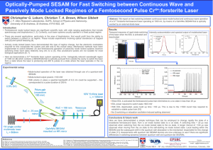Optically-Pumped SESAM for Fast Switching between Continuous Wave and