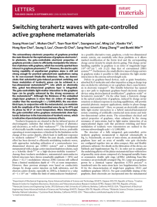 Switching terahertz waves with gate-controlled active graphene metamaterials LETTERS *