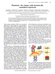 Plasmonic Airy beams with dynamically controlled trajectories Peng Zhang, Sheng Wang,