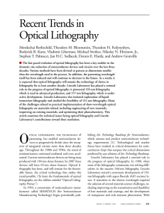 Recent Trends in Optical Lithography