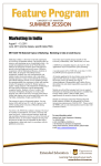 Marketing in India August 1 – 13, 2011