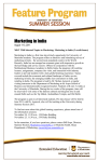 Marketing in India August 1-13, 2011