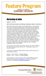 Marketing in India August 13 – 24, 2012