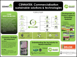 CENNATEK: Commercialization sustainable solutions & technologies Fatima Fasih