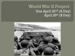 WWII Project Outline