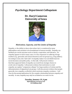 Psychology	Department	Colloquium Dr.	Daryl	Cameron University	of	Iowa