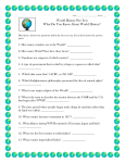 World History Pre-Test What Do You Know About World History?