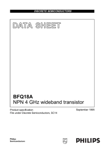 DATA  SHEET BFQ18A NPN 4 GHz wideband transistor September 1995