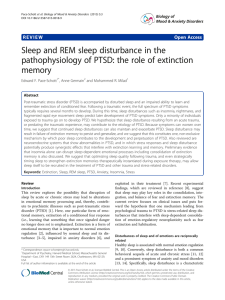 Sleep and REM sleep disturbance in the memory