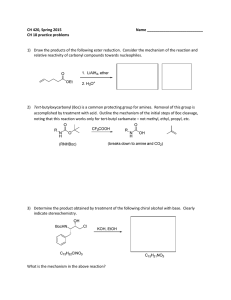 CH 420, Spring 2015  Name ___________________________ CH 18 practice problems
