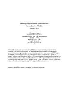 Monetary Policy Alternatives at the Zero Bound: February, 2013 Christopher Hanes