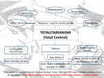 TOTALITARIANISM (Total Control)