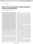LETTERS Nature of the superconductor–insulator transition in disordered superconductors Yonatan Dubi