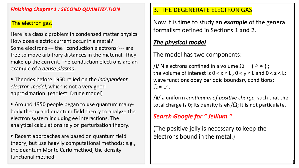 3  THE DEGENERATE ELECTRON GAS example