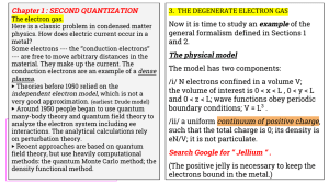 3.  THE DEGENERATE ELECTRON GAS Chapter 1 : SECOND QUANTIZATION
