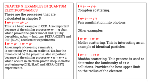 CHAPTER 5 : EXAMPLES IN QUANTUM γ e- → γ e- ∎ ELECTRODYNAMICS
