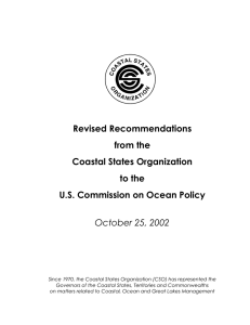 Revised Recommendations from the Coastal States Organization